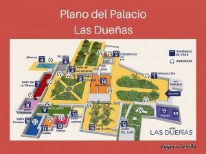 Plano del Palacio Las Dueñas