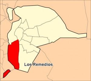 Ubicación del Distrito Los Remedios -