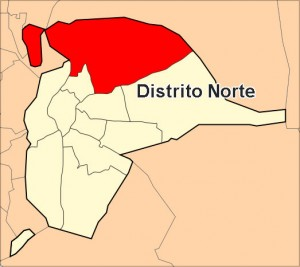 Ubicación del Distrito Norte - <a href='http://es.wikipedia.org/wiki/Archivo:Distrito_Norte_Sevilla.svg' target='_blank' rel='nofollow'></a>