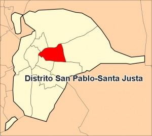Ubicación del distrito San Pablo-Santa Justa - <a href='http://es.wikipedia.org/wiki/Archivo:San_Pablo-Santa_Justa.svg' target='_blank' rel='nofollow'></a>