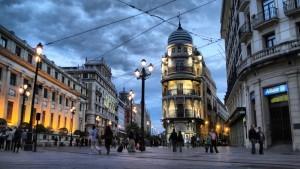 Calles de Sevilla en temporada de invierno.