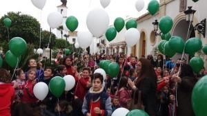 Celebración del Día de Andalucía en un colegio de Sevilla.