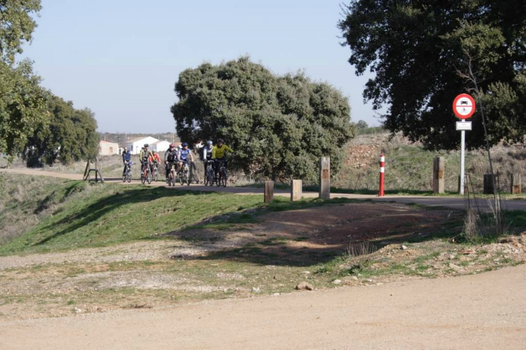Zona de ciclismo en el Parque Natural de la Sierra Norte de Sevilla