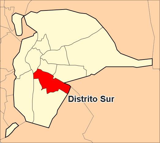 Ubicación del Distrito Sur