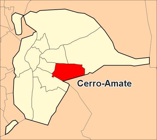 Ubicación del Distrito Cerro-Amate