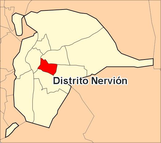 Ubicación del Distrito Nervión