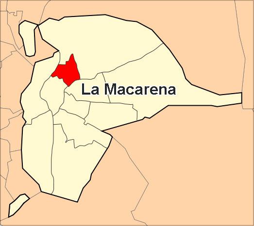 Ubicación del distrito Macarena