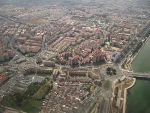 Vista aérea del distrito de La Macarena