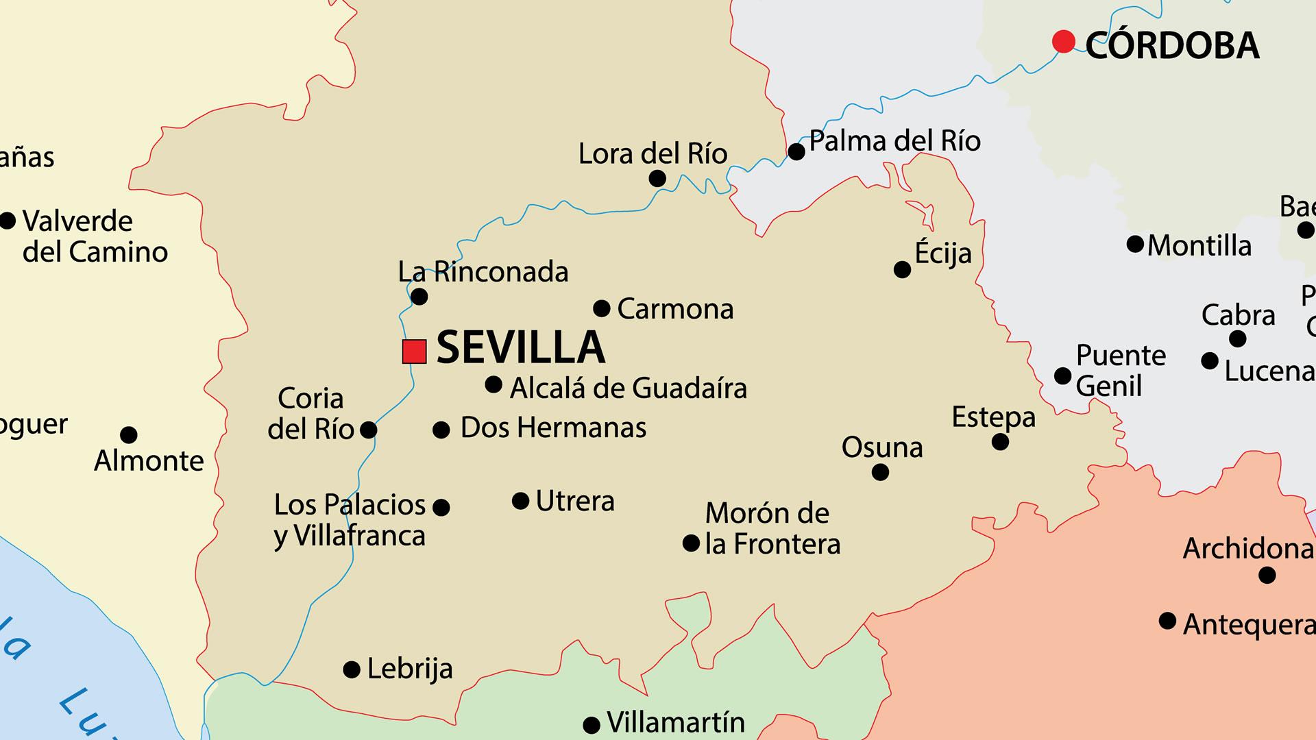 Mapa De Sevilla Capital.Mapa De Sevilla Viajar A Sevilla