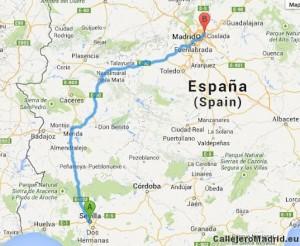 Trayecto Madrid a Sevilla